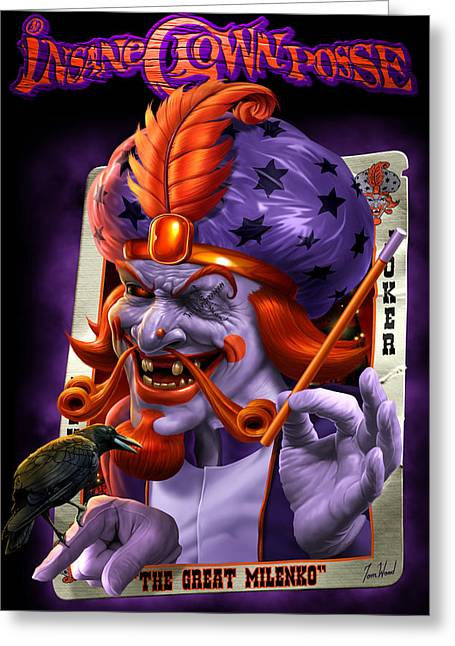 Posse Greeting Cards - The Great Milenko JCC Greeting Card by Tom Wood