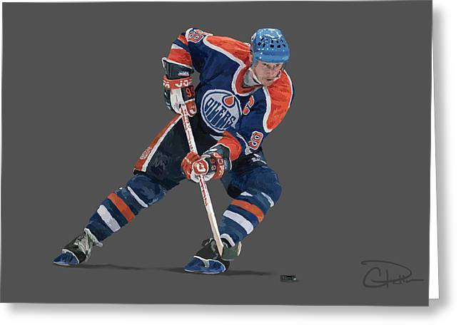 Wayne Gretzky Greeting Cards - Gretzky Greeting Card by Charley Pallos