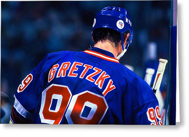 Wayne Gretzky Greeting Cards - The Great One Greeting Card by Jerry Coli