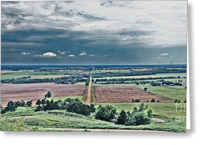 As Far As The Eye Can See Greeting Cards - The Great Plains Greeting Card by Betty Morgan