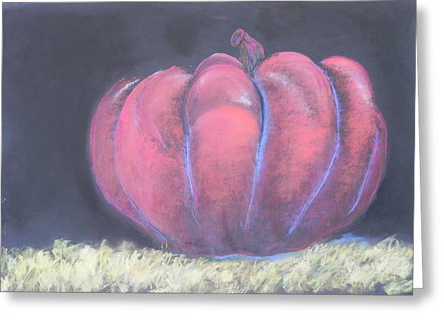 Pumpkins Pastels Greeting Cards - The Great Pumpkin Greeting Card by Mary Olivera