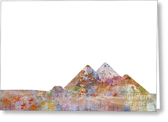 Nile Greeting Cards - The Great Pyramids Colorsplash Greeting Card by Aimee Stewart