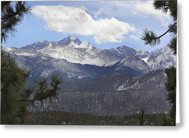 Snow Capped Greeting Cards - The Rocky Mountains - Colorado Greeting Card by Mike McGlothlen