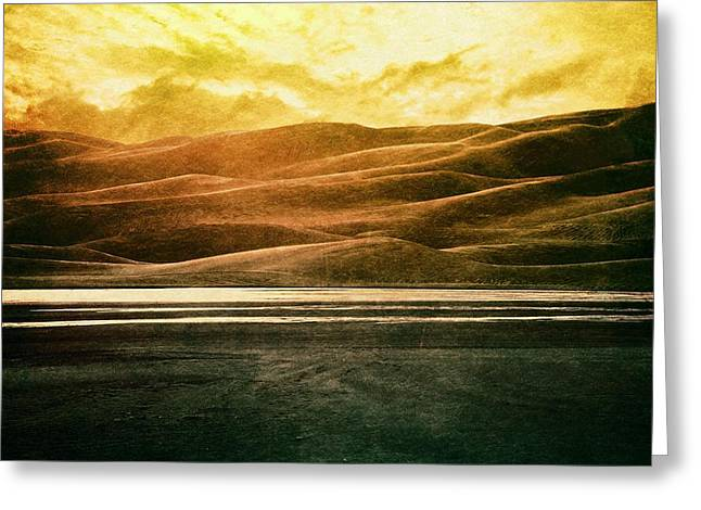 Epic Amazing Colors Landscape Digital Modern Still Life Trees Warm Natural Earth Organic Paint Photo Chic Decor Interior Design Brett Pfister Art Digital Art Digital Art Digital Art Greeting Cards - The Great Sand Dunes Greeting Card by Brett Pfister