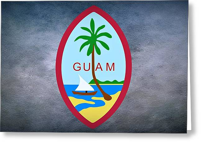 River Of Life Greeting Cards - The Great Seal of Guam Territory of USA  Greeting Card by Movie Poster Prints