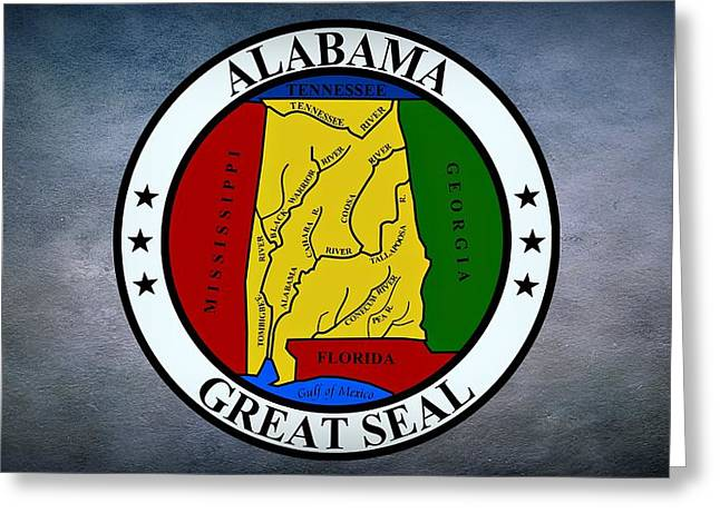 Alabama Greeting Cards - The Great Seal of the State of Alabama Greeting Card by Movie Poster Prints