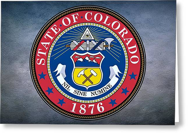 Elm Digital Art Greeting Cards - The Great Seal of the State of Colorado Greeting Card by Movie Poster Prints