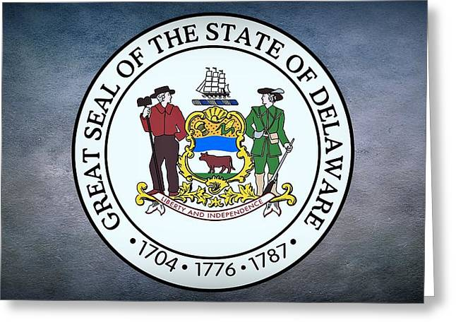 Delaware Digital Art Greeting Cards - The Great Seal of the State of Delaware Greeting Card by Movie Poster Prints
