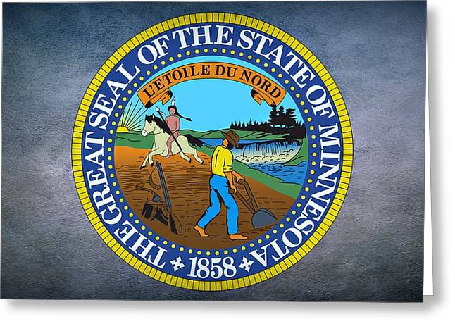 The Great Seal Of The State Of Minnesota Greeting Card by Movie Poster Prints