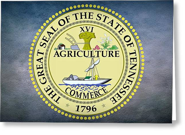 The Great Seal of the State of Tennessee Greeting Card by Movie Poster Prints