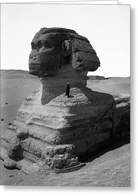 The Plateaus Greeting Cards - THE GREAT SPHINX of EGYPT  1900 Greeting Card by Daniel Hagerman