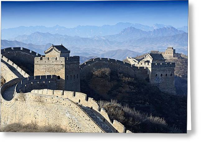 Watch Tower Greeting Cards - The Great Wall - China Greeting Card by Brendan Reals