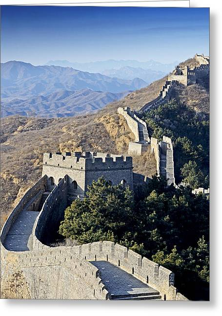 Watch Tower Greeting Cards - The Great Wall of China Greeting Card by Brendan Reals