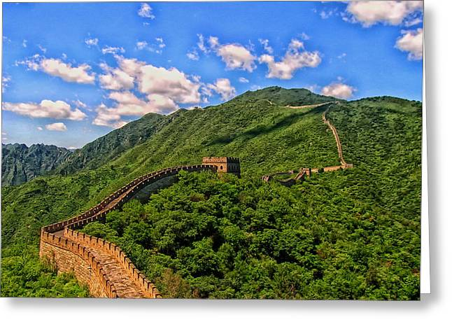 Hdr Landscape Greeting Cards - The Great Wall of China Greeting Card by Mountain Dreams