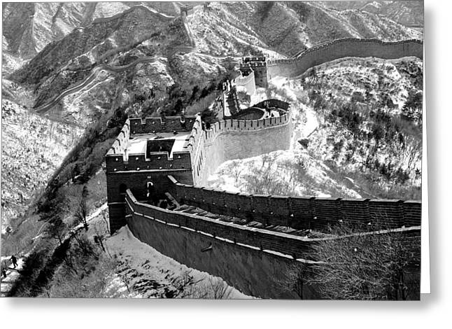 Border Greeting Cards - The Great Wall of China Greeting Card by Sebastian Musial