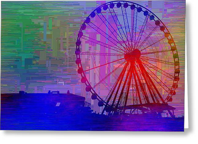 The Great  Wheel Cubed Greeting Card by Tim Allen