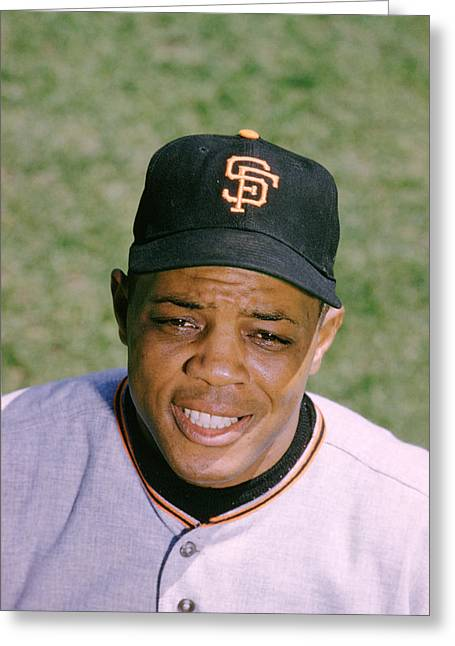 Mvp Photographs Greeting Cards - The Great Willie Mays Greeting Card by Retro Images Archive