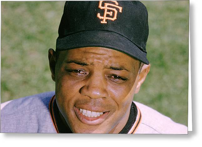 The Great Willie Mays Greeting Card by Retro Images Archive