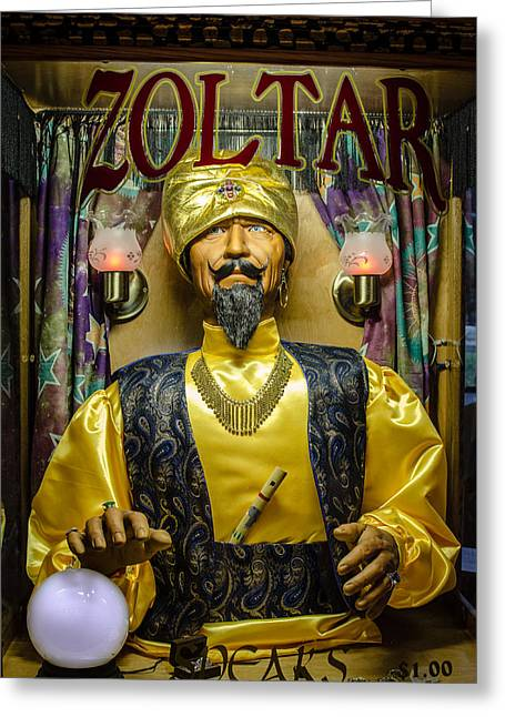 Vending Machine Photographs Greeting Cards - The Great Zoltar Greeting Card by David Morefield