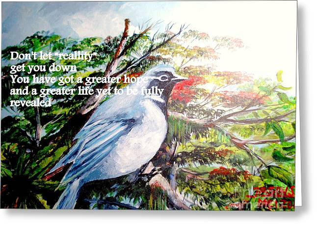 Mangrove Forest Paintings Greeting Cards - The Greater Hope And Life Greeting Card by Jason Sentuf