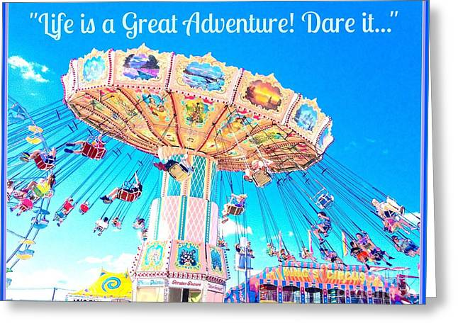 Whee Greeting Cards - The Greatest Adventure Greeting Card by Beth Saffer