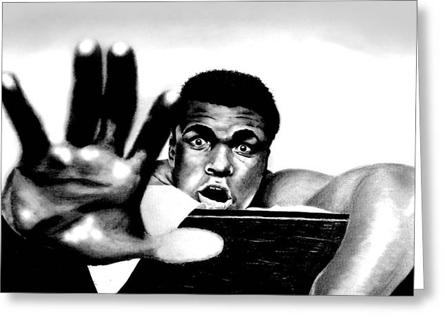 The Greatest Muhammad Ali Greeting Card by Mike Sarda