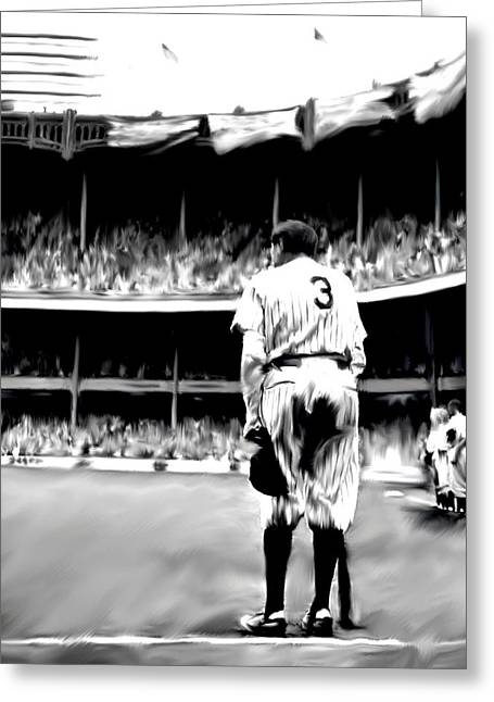 Player Drawings Greeting Cards - The Greatest of All III Babe Ruth Greeting Card by Iconic Images Art Gallery David Pucciarelli
