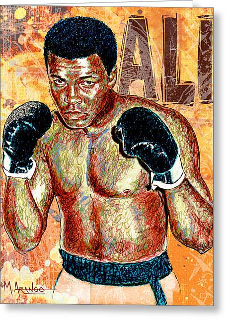 Gloves Drawings Greeting Cards - The Greatest of All Time Greeting Card by Maria Arango