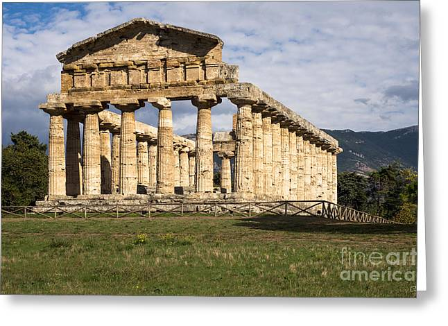 Temple Of Athena Greeting Cards - The Greek Temple of Athena Greeting Card by Prints of Italy