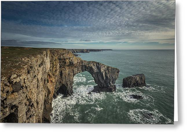 Landscapes Of Wales Greeting Cards - The Green Bridge of Wales Greeting Card by Chris Fletcher