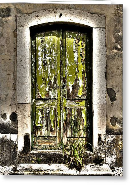 Historical Pictures Greeting Cards - The Green Door Greeting Card by Marco Oliveira