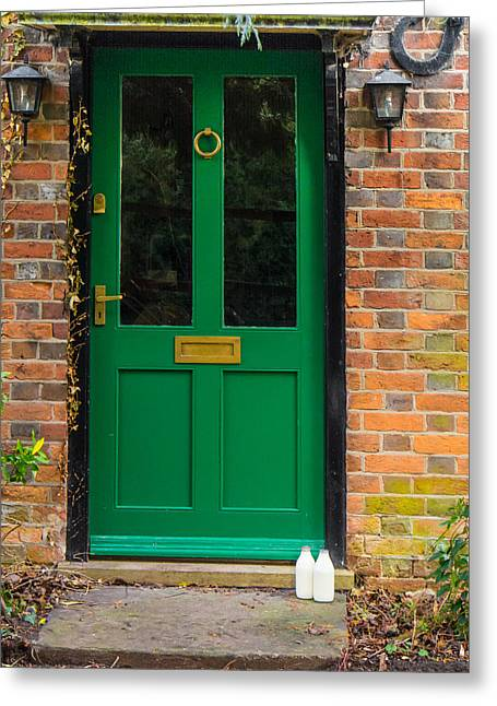 The Green Door Greeting Card by Mark Llewellyn