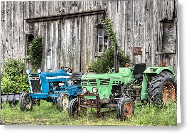 Fauquier County Greeting Cards - The Green Duetz Greeting Card by JC Findley