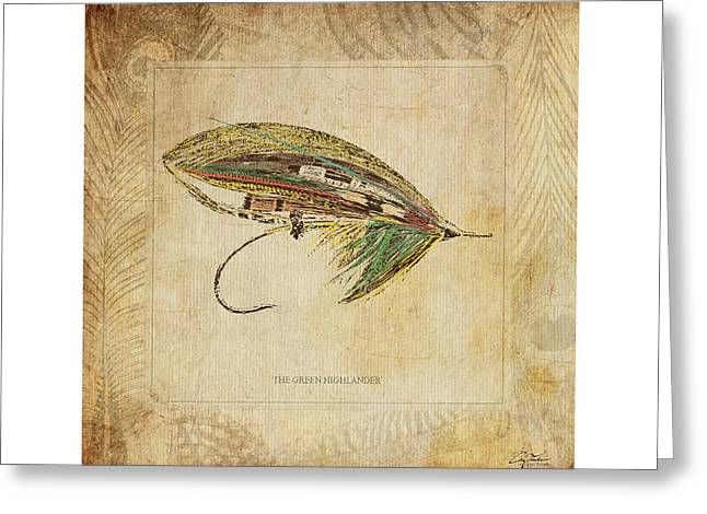 Salmon Digital Greeting Cards - The Green Highlander Greeting Card by Craig Tinder