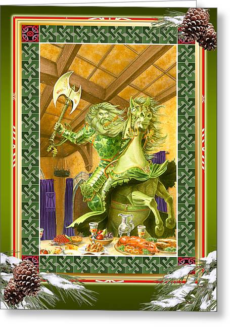 Camelot Greeting Cards - The Green Knight Christmas Card Greeting Card by Melissa A Benson