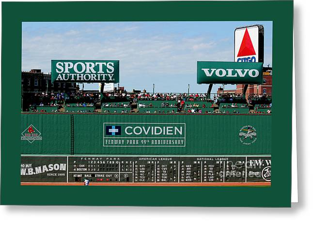 The Green Monster 99 Greeting Card by Tom Prendergast