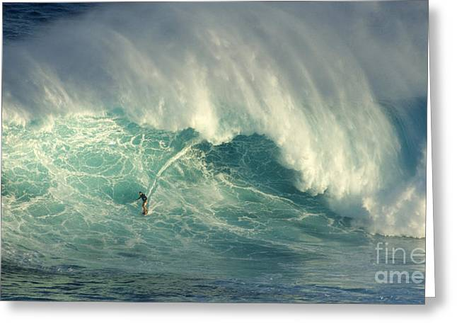 Surfing Photos Greeting Cards - Surfing The Green Zone Greeting Card by Bob Christopher