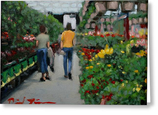 Lowes Greeting Cards - The Greenhouse Effect Greeting Card by David Zimmerman