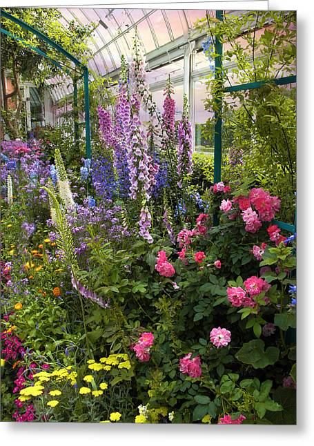 Foxglove Flowers Greeting Cards - The Greenhouse Greeting Card by Jessica Jenney