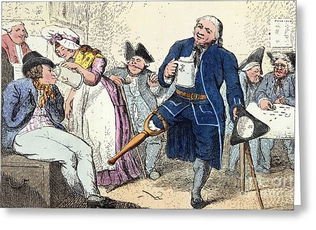 Tankards Greeting Cards - The Greenwich Pensioner Greeting Card by British Library
