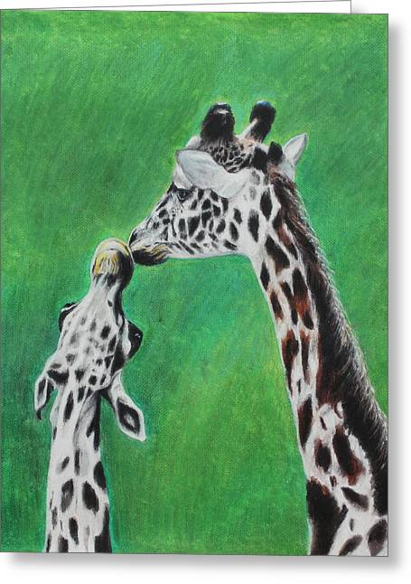 Bonding Pastels Greeting Cards - The Greeting Greeting Card by Jeanne Fischer