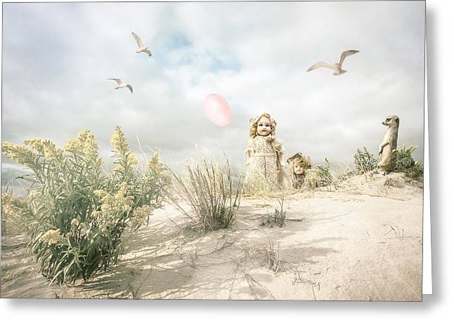 The Greeting Party - Fantasy Art Greeting Card by Gary Heller