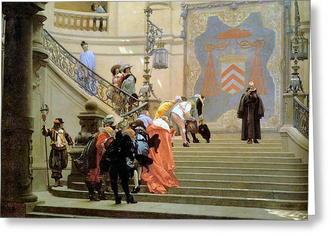The Grey Cardinal Greeting Card by Jean Leon Gerome