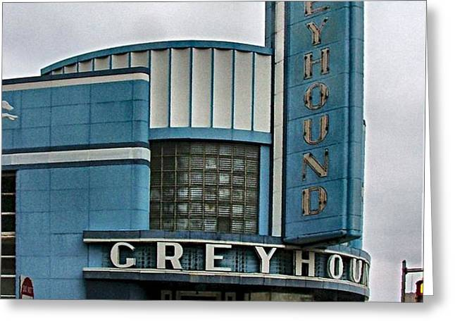 The Greyhound Bus Station Greeting Card by Julie Dant