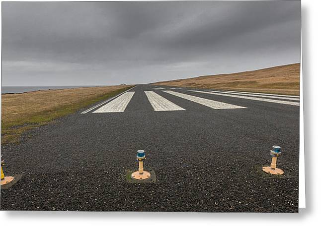 Arctic Circle Greeting Cards - The Grimsey Airport, Grimsey Island Greeting Card by Panoramic Images