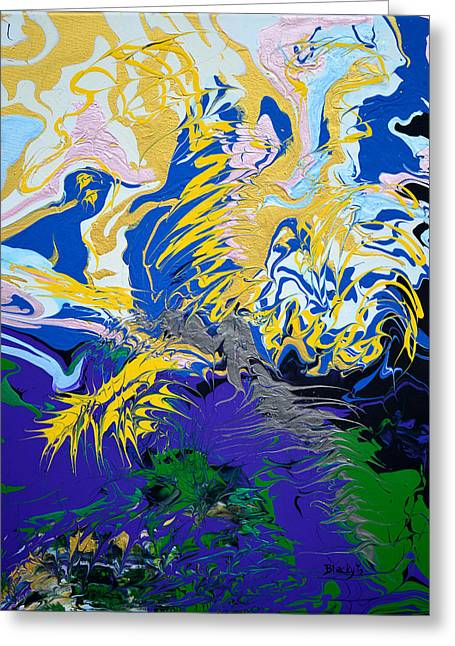 Thunder Paintings Greeting Cards - The Grinchs Thunder Greeting Card by Donna Blackhall
