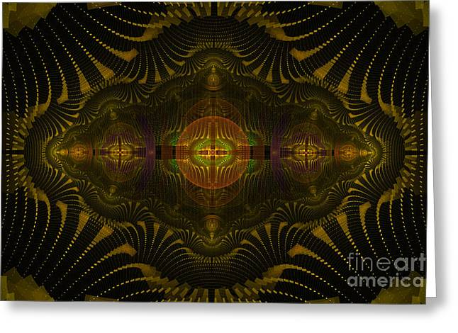 Geometric Digital Art Greeting Cards - The Grinder Greeting Card by Fairy Fantasies