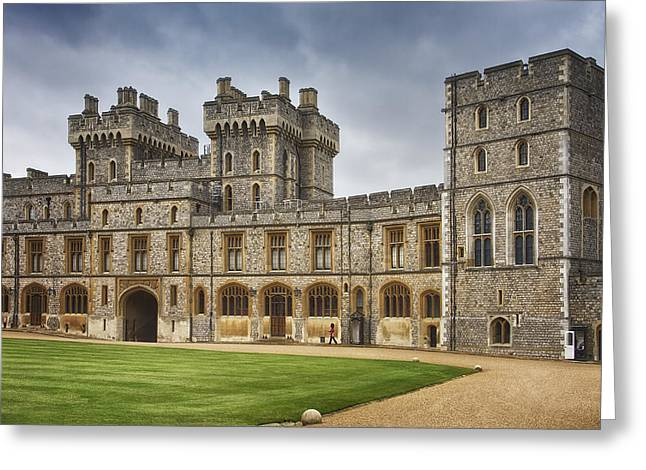 United Kingdom Greeting Cards Greeting Cards - The Grounds of Windsor Castle Greeting Card by Kim Andelkovic