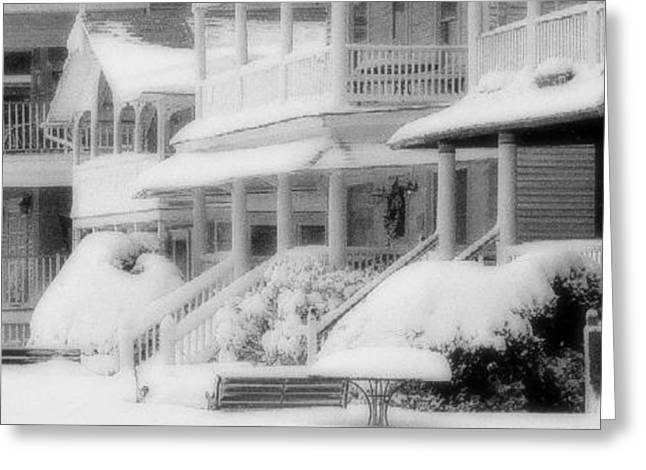 Historic Home Greeting Cards - the Grove in winter Greeting Card by William Walker