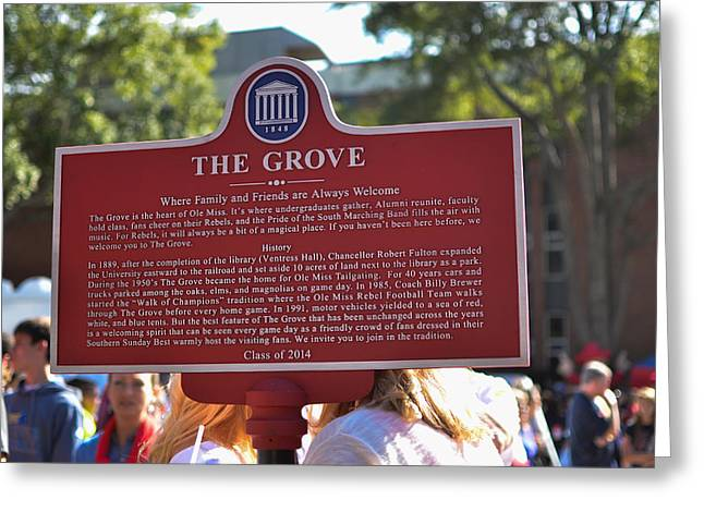 Sec Conference Greeting Cards - The Grove Historical Marker Greeting Card by Luke Pickard